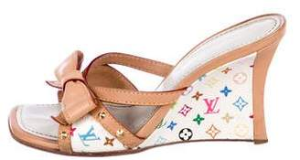 Louis Vuitton Multicolore Wedge Sandals