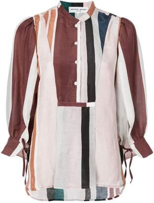 Apiece Apart colour block stripe blouse