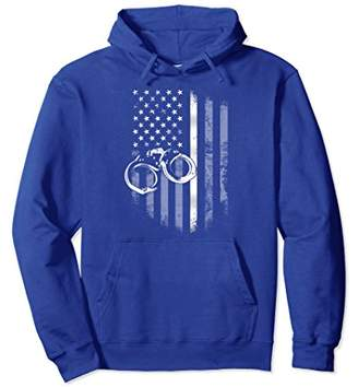 Thin Silver Line Flag Prison Correctional Officer Hoodie