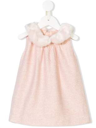 Chloé Kids faux fur collar dress