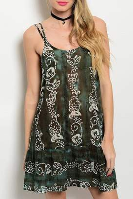 Adore Clothes & More Olive Brown Summer Dress