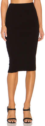 James Perse Heavy Rib Skinny Skirt