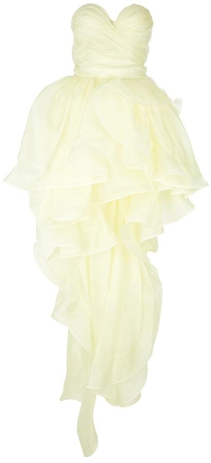 Ermanno Scervino ruffle strapless dress
