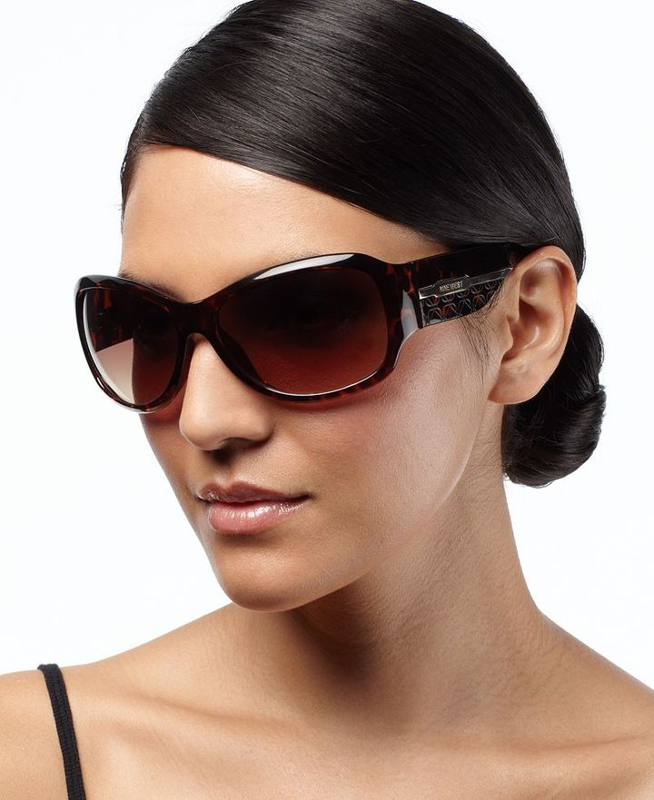 Nine West Sunglasses, Square with Signature Temple