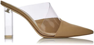 Cult Gaia Krystle Lucite Leather Mules