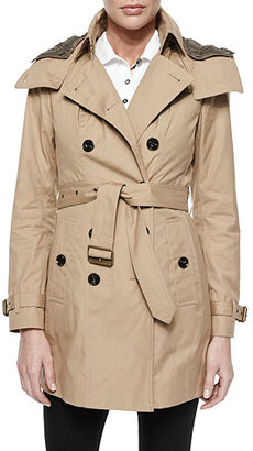 Burberry Hooded Canvas Trench Coat $995 thestylecure.com