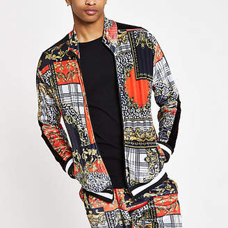 River Island Jaded London red baroque zip track jacket