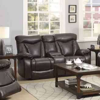 Loon Peak Breezeknoll Power Leather Reclining Sofa