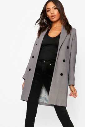 boohoo Double Breasted Coat