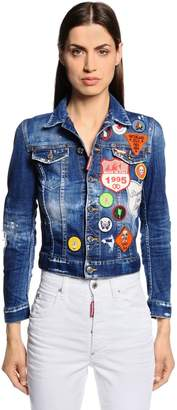 DSQUARED2 Scout Patches Washed Cotton Denim Jacket
