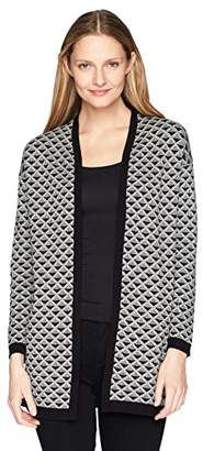Chaus Women's Novelty Jacquard Cardigan