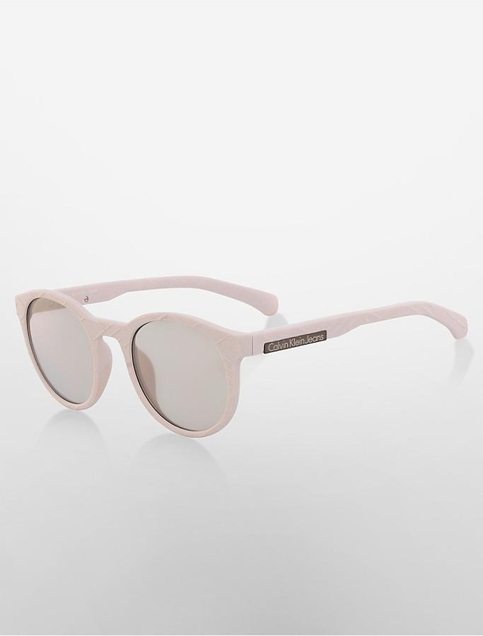 Calvin KleinRound Cityscape Sunglasses
