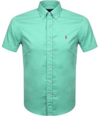 Ralph Lauren Short Sleeved Slim Fit Shirt Green