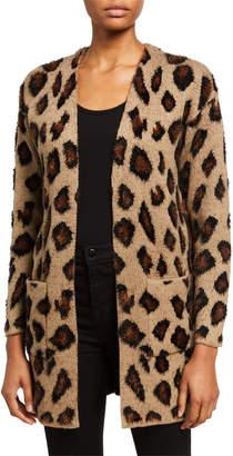 Neiman Marcus Leopard Open Cardigan