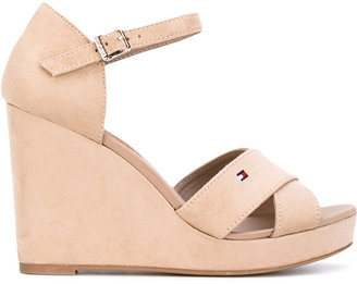 Tommy Hilfiger wedge buckled sandals $89.03 thestylecure.com