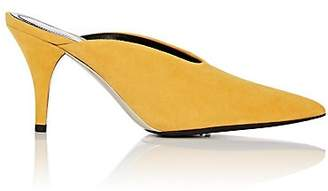 Calvin Klein Women's Suede Mules - Yellow Size 6