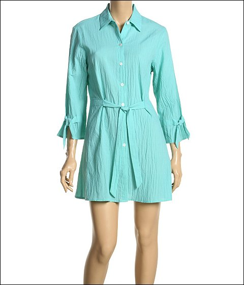 Tommy Bahama - Crinkle Lawn Shirt Coverup (Scuba)