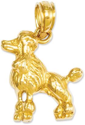 Macy's 14k Gold Charm, Poodle Dog Charm