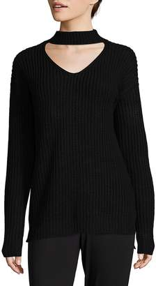 Saks Fifth Avenue RED Women's Cutout Choker Sweater