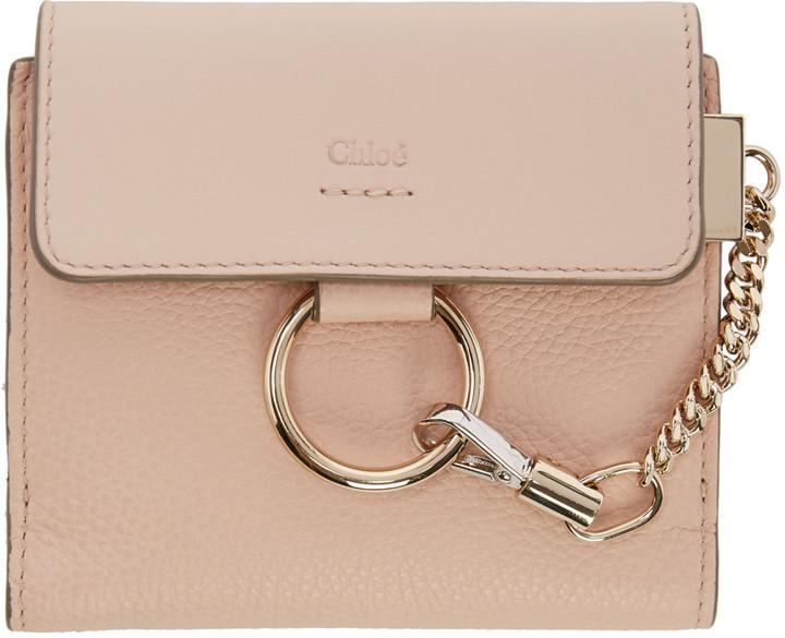 Chloé Chloé Pink Small Faye Wallet