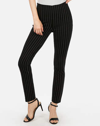 Express High Waisted Striped Pull-On Skinny Pant