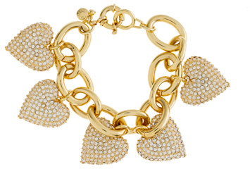 J.Crew Pavé heart bracelet