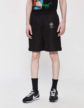 Off-White Off White Diagonal Stencil Mesh Short