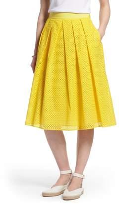 1901 Eyelet A-Line Skirt (Regular & Petite)