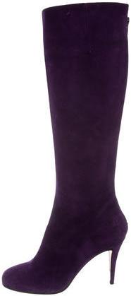 Christian Louboutin Christian Louboutin Suede Knee-High Boots