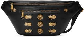 Gucci Leather belt bag with animal studs