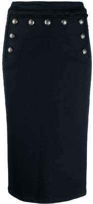 Veronica Beard button denim skirt