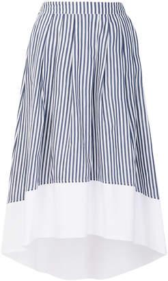 Roberto Collina striped flared skirt