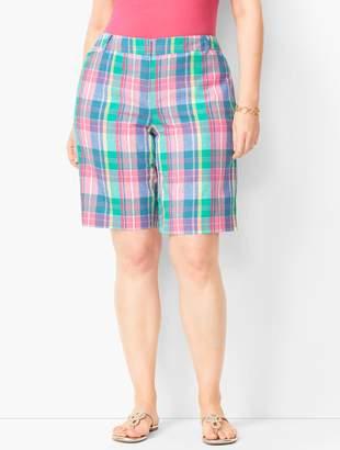 Talbots Plus Size Perfect Shorts - Bermuda Length - Madras Plaid