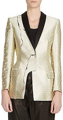 Haider Ackermann Women's Asymmetric Metallic Jacket