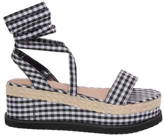 8b10a53d59af Missy Empire Missyempire Jolene Gingham Tie Up Espadrille Flatform Sandals