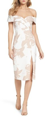 Women's Bardot Bella Off The Shoulder Midi Dress $119 thestylecure.com