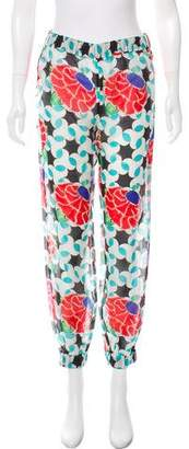 Chanel Printed Mid-Rise Joggers