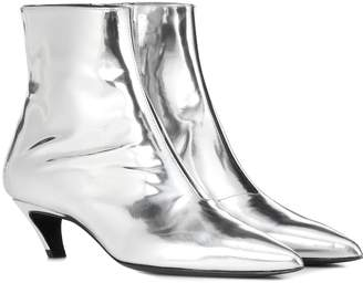 Balenciaga Metallic leather ankle boots