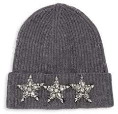 Saks Fifth Avenue Cashmere-Blend Star Beanie