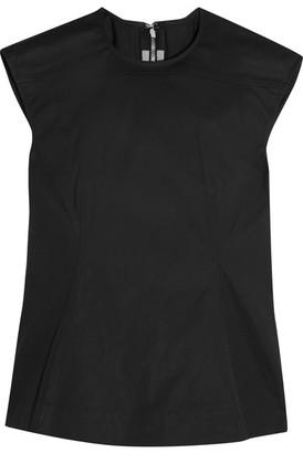 Rick Owens - Calpurnia Cotton-blend Top - Black $755 thestylecure.com