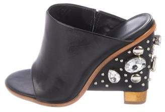 Tibi Embellished Slide Sandals