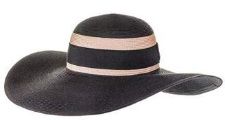 Black and Sand Wide Brimmed Hat