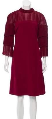 Mikael Aghal Pleated Midi Dress