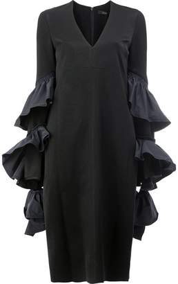 Ellery ruffle panel dress