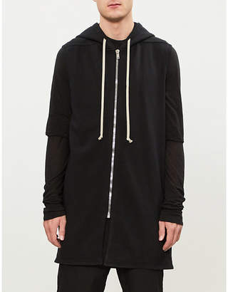 Rick Owens Fleece-lined cotton-jersey sleeveless hoody