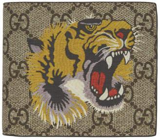 Gucci Beige GG Supreme Tiger Wallet