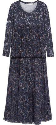 See by Chloe Printed Cotton And Silk-Blend Voile And Jersey Maxi Dress