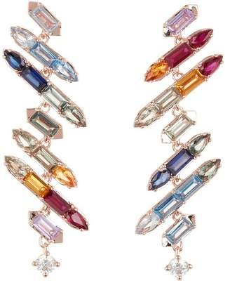 Nadri Prism Jagged Linear Drop Earrings
