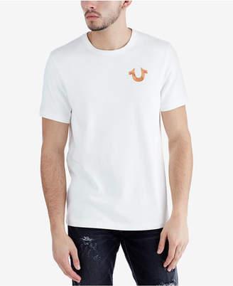 True Religion Men's Rose Gold Metallic Logo-Print T-Shirt