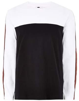 Topman Skater Taped Oversized Long Sleeve T-Shirt
